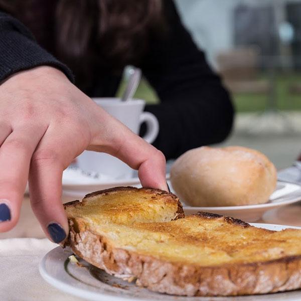 Torrada ao lanche - Pão de Gimonde